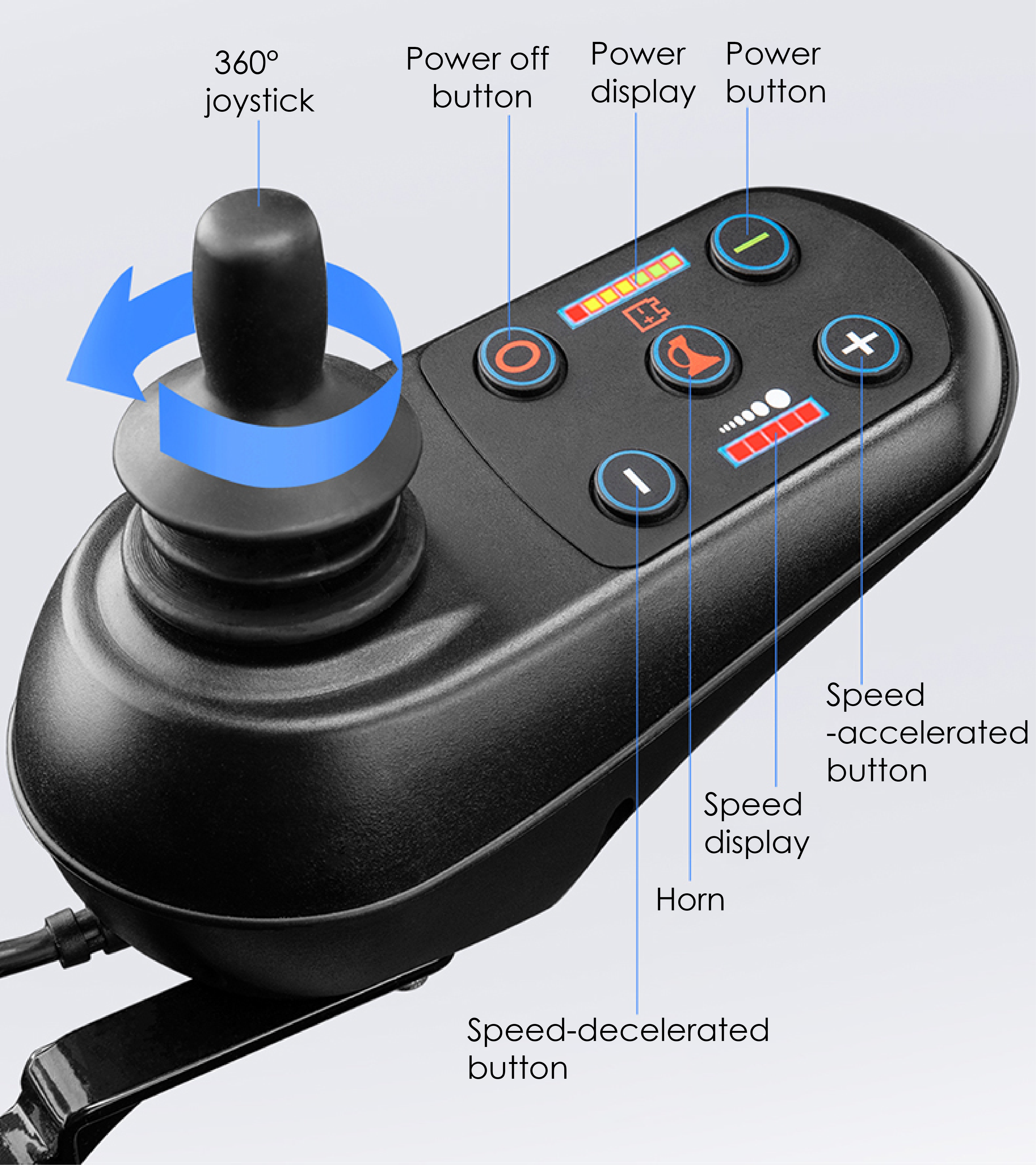 electric wheelchair joystick